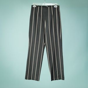 Reformation 4 Black Tan Marlon Stripe Pants